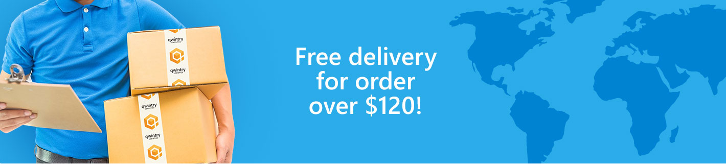 Free delivery for orders over $120