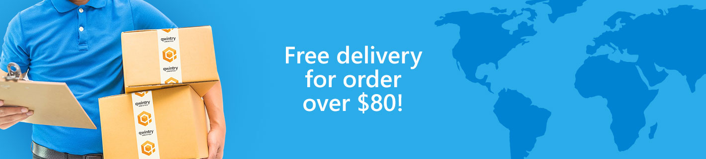 Free delivery for order over $80!