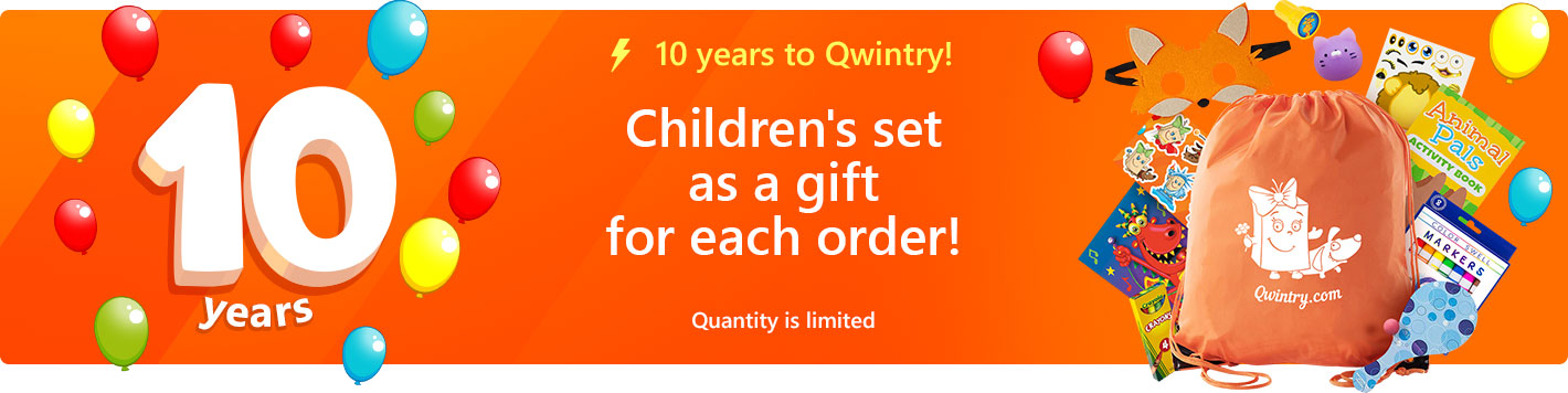 Children's set as a gift for each order!