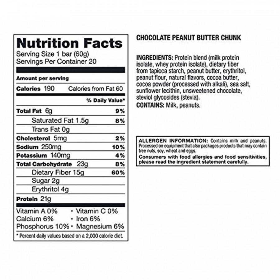 10 x Kirkland Signature Protein Bar Chocolate Peanut Butter Chunk