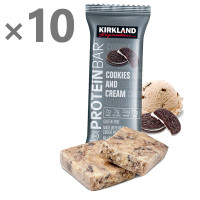 10 x Kirkland Signature Protein Bar Cookies and Cream