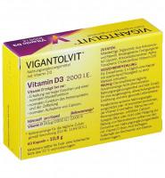 Витамин D3 2000ME, Vigantolvit, 60 таблеток