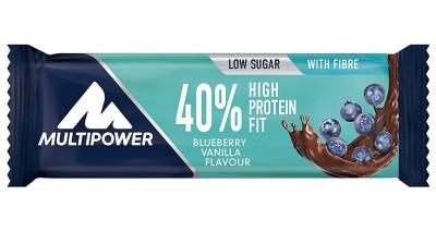 40% Protein Fit bars Multipower blueberry-vanilla, 35g