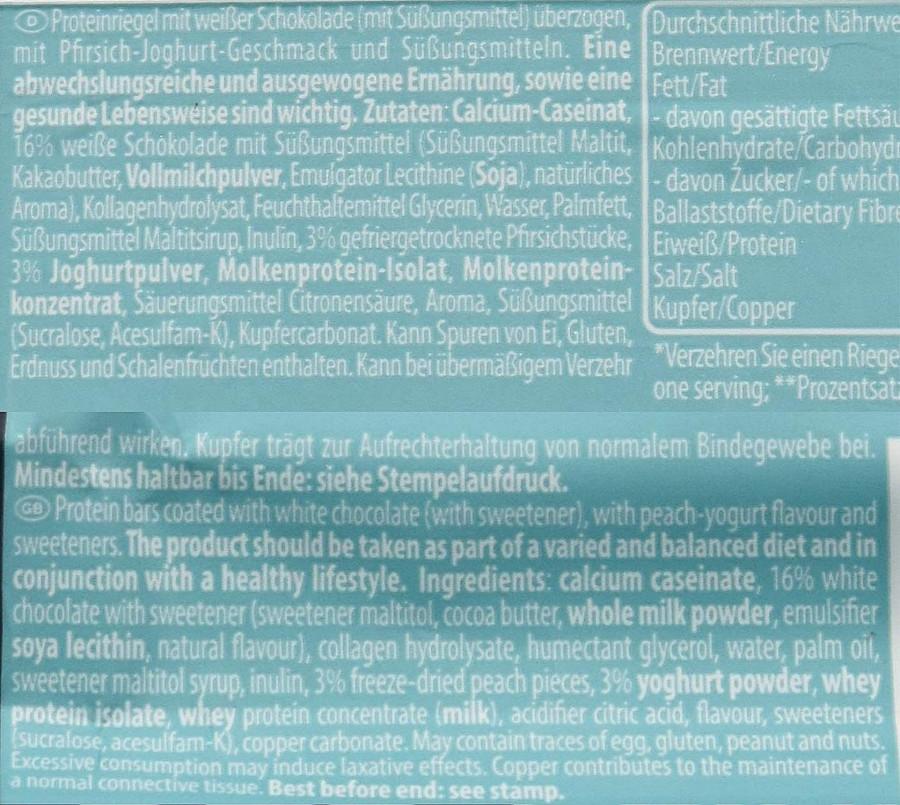 40% Protein Fit bars Multipower peach-yogurt, 35g
