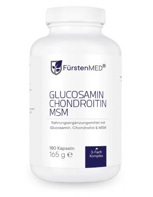 Глюкозамин, хондроитин и MSM FürstenMED, 180 капсул