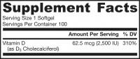 Витамин D3 2500 МЕ Jarrow, 100 капсул