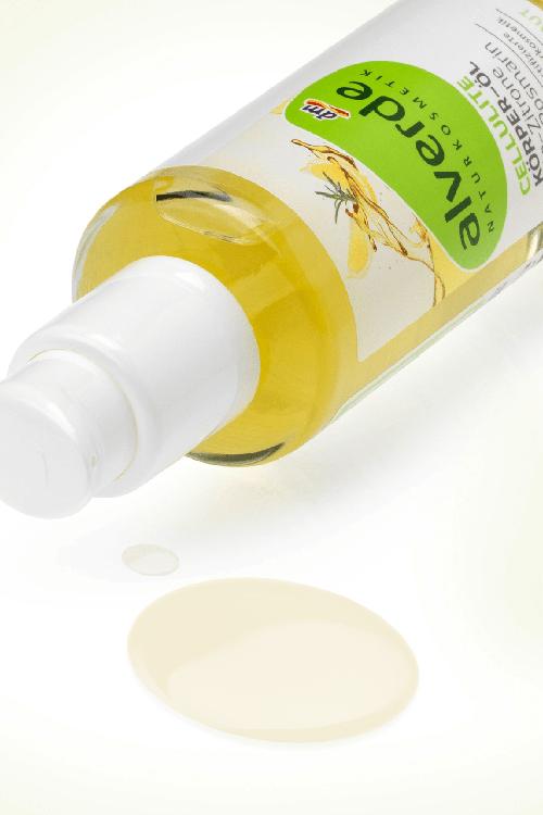 Anti-cellulite organic body oil with lemon and rosemary, Alverde, 100 ml