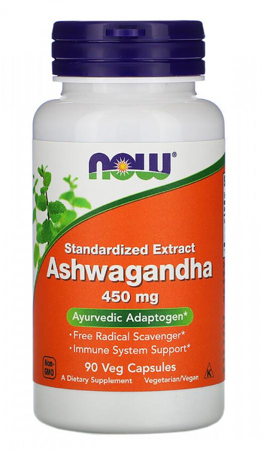 Ashwagandha 450 mg Veg NOW, 90 Capsules