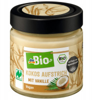 Aufstrich, Kokos Aufstrich mit Vanille, dmBio, 200 g