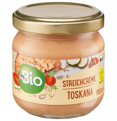 Aufstrich, Streichcreme Toskana mit Paprika & Tomaten dmBio, 180 g