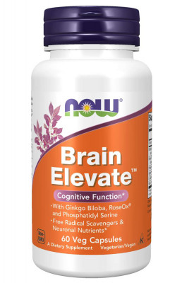 Укрепляющий комплекс NOW Brain Elevate, 60 капсул