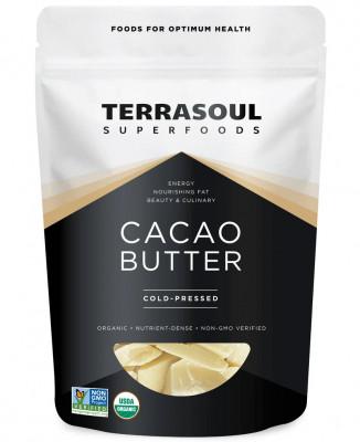 Органическое какао-масло Terrasoul, 170 г