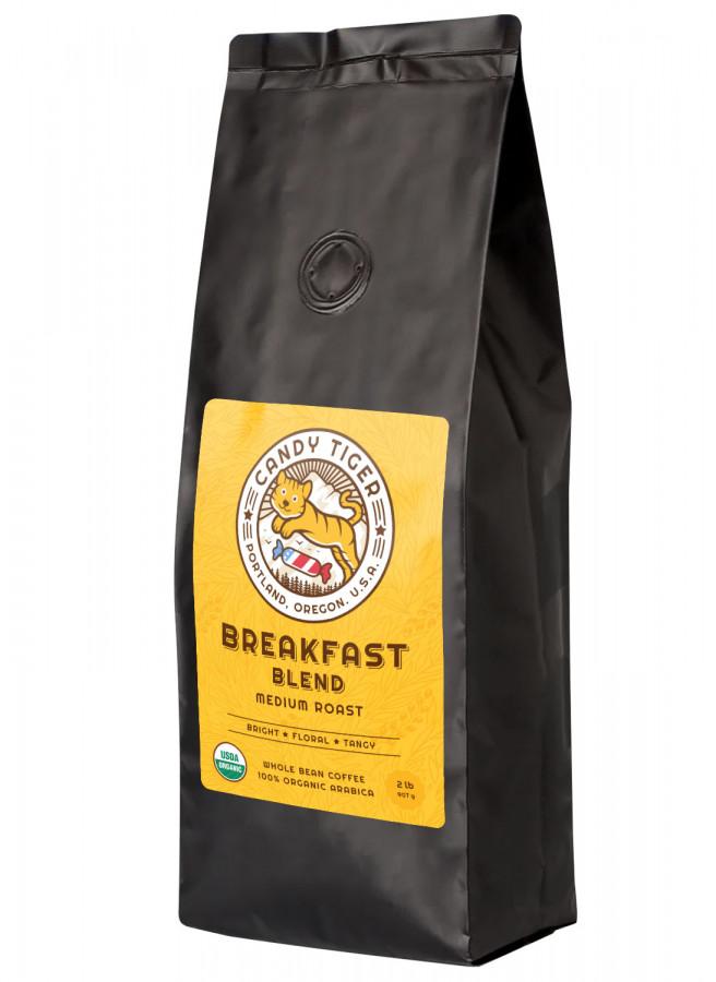 Candy Tiger Breakfast Blend Organic whole bean coffee, 2 lb