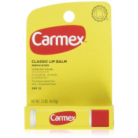 Carmex Classic Lip Balm, Lip Protectant Sunscreen SPF 15, 0.15 oz