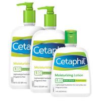 Гипоаллергенный увлажняющий лосьон для сухой и чувствительной кожи Cetaphil, 3 шт.