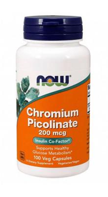 Chromium Picolinate 200 mcg Veg NOW, 100 Capsules