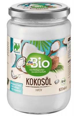 Coconut oil natural dmBio, 620 ml