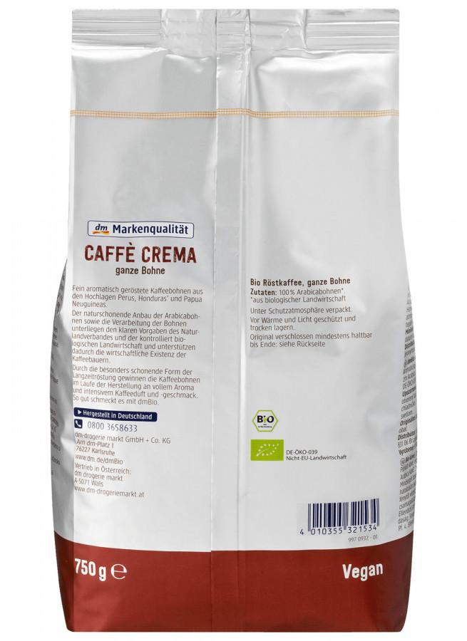 Coffee beans dmBio, 750 g