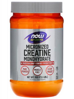 Креатин моногидрат, микронизированный порошок NOW Foods, 500 г