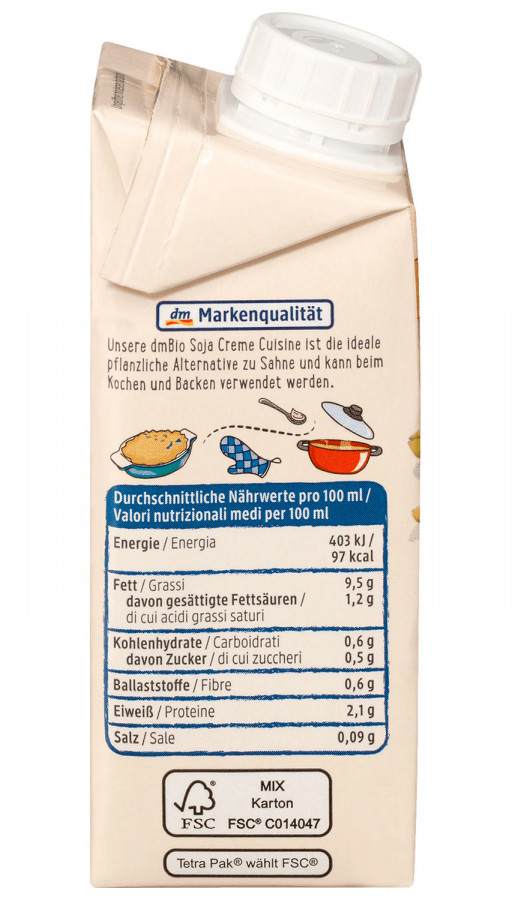 Creme Cuisine Soja dmBio, 200 ml