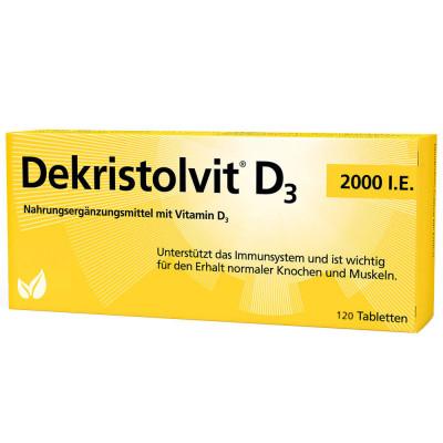 Витамин D3 Dekristolvit, 2000 МЕ, 120 таблеток