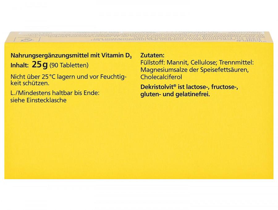 D3 2.000 I.E Dekristolvit, 30 tablets