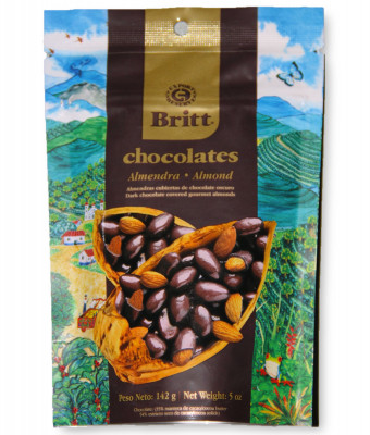 Миндаль в темном шоколаде Britt, 142 г