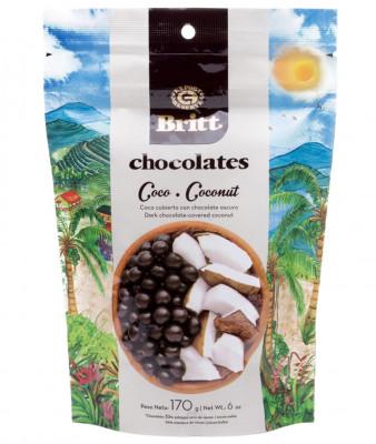Dark Chocolate Covered Coconut Britt
