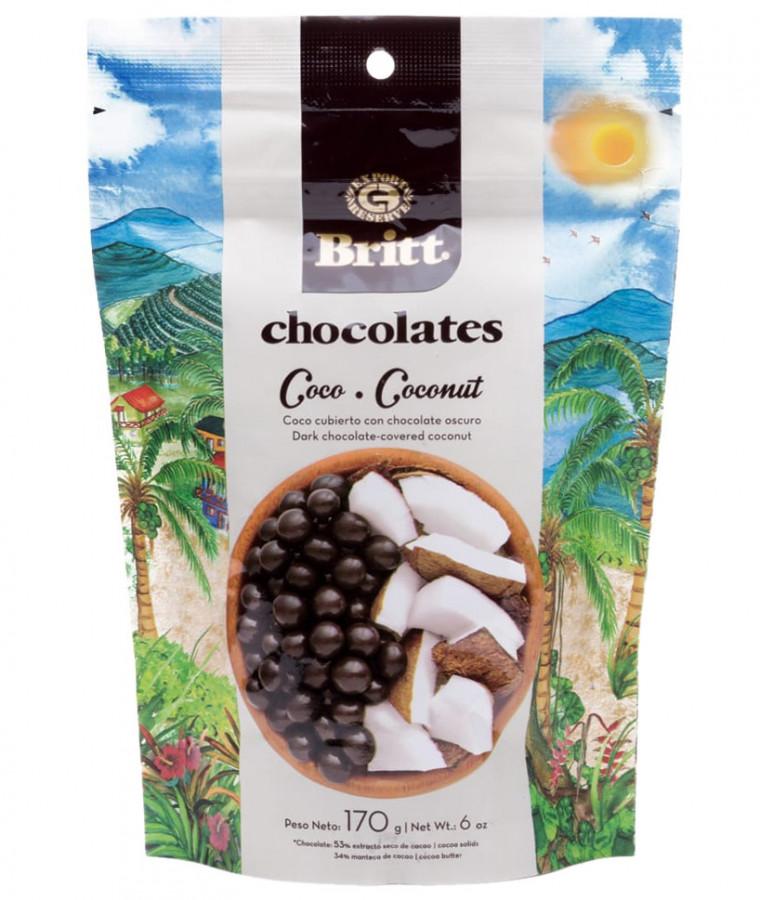 Кокос в темном шоколаде Britt, 170 г