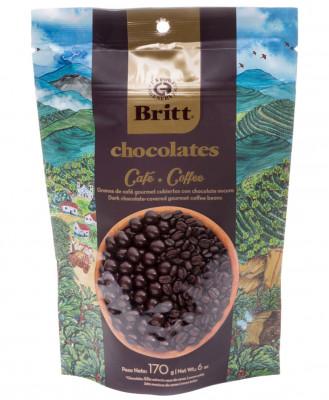 Кофейные зерна в темном шоколаде Britt, 170 г