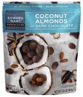 Edward Marc Coconut Almonds with Dark Chocolate, 32 oz