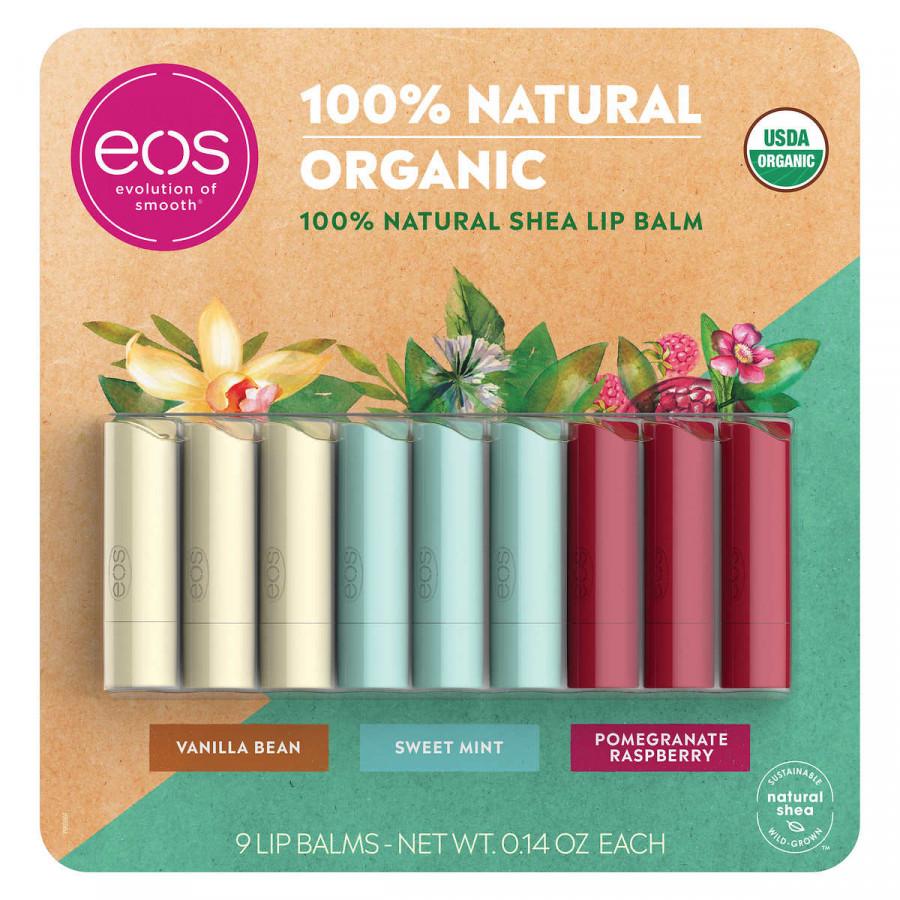 EOS USDA Organic Smooth Lip Balm, 9 Sticks