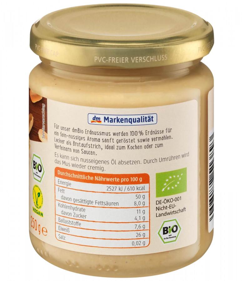 Erdnuss-Mus dmBio, 250 g