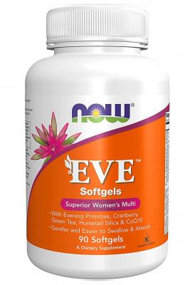 Eve Women's Multiple Vitamin NOW Foods, 90 Softgels