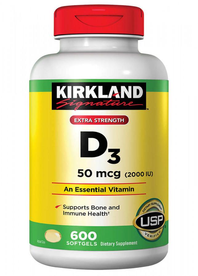 Витамин D3 Kirkland Signature, 600 капсул