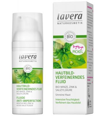 Флюид для лица с цинком и натуральной салициловой кислотой Lavera, 50 мл