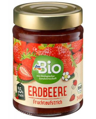 Fruchtaufstrich Erdbeere 55% dmBio, 340g