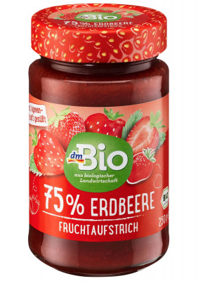 Fruchtaufstrich Erdbeere 75% dmBio, 250g