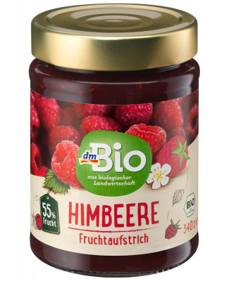 Fruchtaufstrich Himbeer 55% dmBio, 340 g