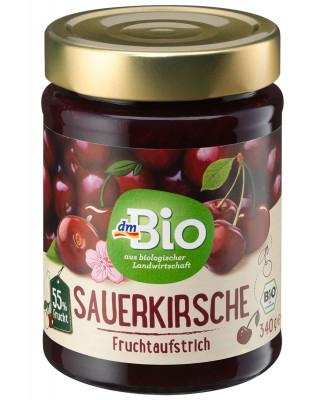 Fruchtaufstrich Sauerkirsche 55% dmBio, 340 g