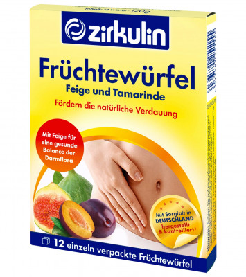 Фруктовые кубики для пищеварения Zirkulin, 12 шт.