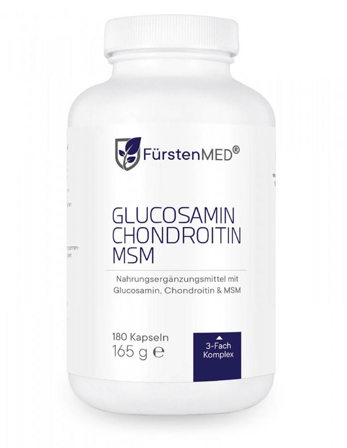 FürstenMED Glucosamin + Chondroitin + MSM 180 Capsules