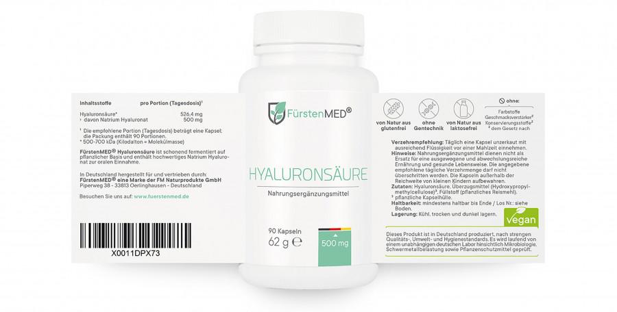 Гиалуроновая кислота FürstenMED, 90 капсул