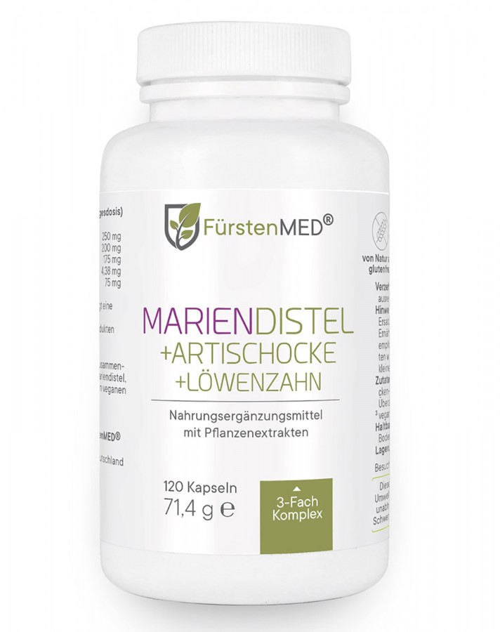 FürstenMED Mariendistel + Artischocke + Löwenzahn 120