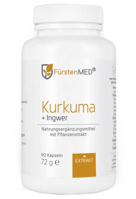 Экстракт куркумы и имбиря FürstenMED, 90 капсул