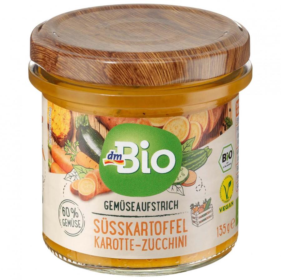 Gemuseaufstrich süsskartofel-Karotte-Zucchini dmBio, 135 g