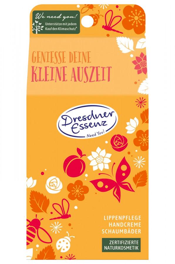 Geschenkset Handcreme 30ml + Schaumbad 2x20ml + Lippenpflege, 1 St, Dresdner Essenz