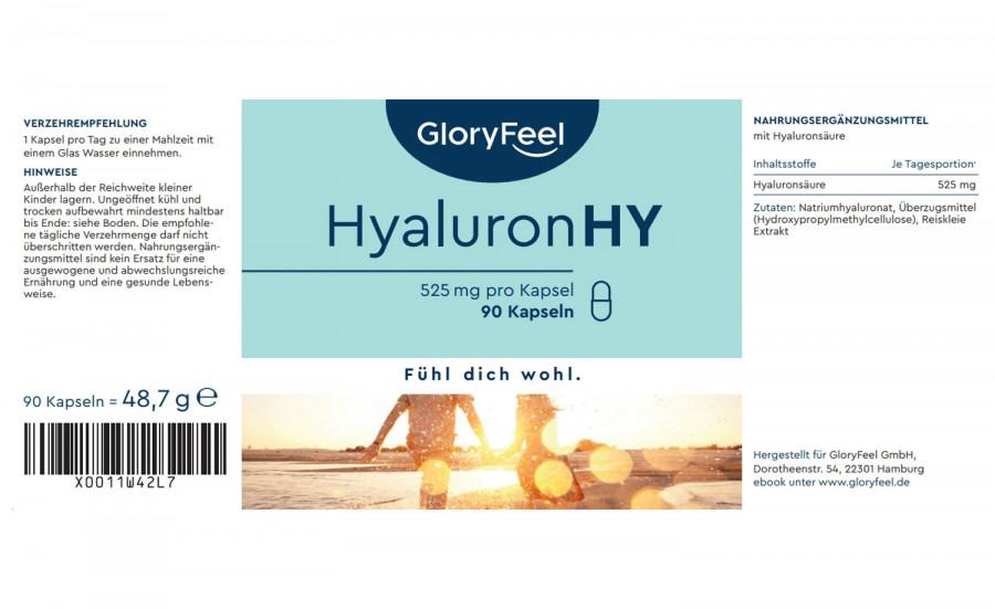 Hyaluronsäure Intensiv GloryFeel, 90 Kapseln