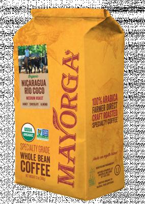 Mayorga Organics Nicaragua Río Coco whole bean coffee, 2 lb.