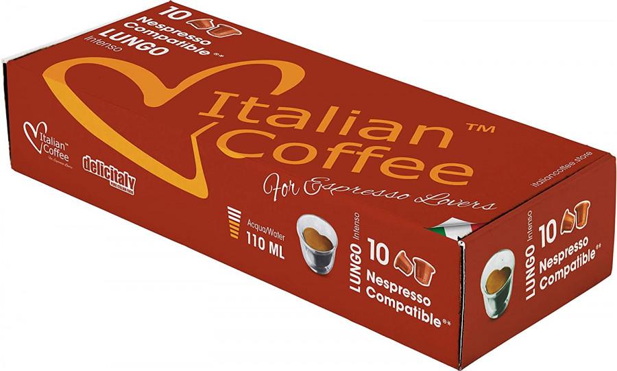 Кофе в капсулах Lungo DELICITALY, 100 капсул